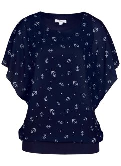Georgette-Bluse, kurzarm, bpc bonprix collection