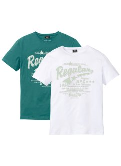 T-Shirt 2er Pack, bpc bonprix collection
