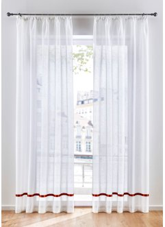 Halbtransparente Gardine mit Satinband (1er Pack), bpc living bonprix collection