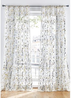 Transparente Gardine mit Glanzdruck (1er Pack), bpc living bonprix collection
