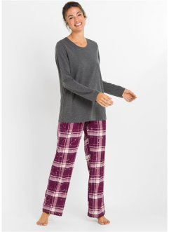 Pyjama mit Flanellhose, bpc bonprix collection