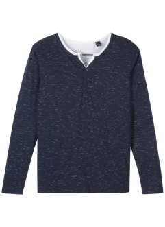 Jungen Henleyshirt 2-in1 Optik, bpc bonprix collection