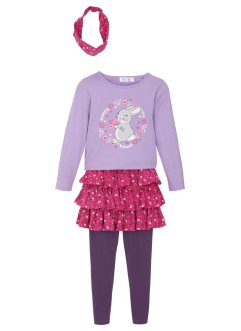 Mädchen Shirt, Rock, Leggings, Haarband (4-tlg.Set), bpc bonprix collection