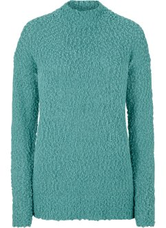 Bouclé-Pullover mit Stehkragen, bpc bonprix collection