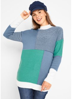 Patchwork Pullover, bpc bonprix collection