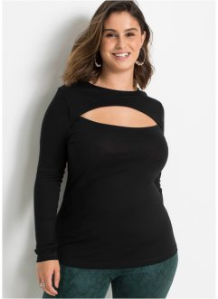 Langarmshirt mit Cut-Out, BODYFLIRT