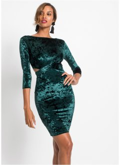 Kleid im Samtlook, BODYFLIRT boutique