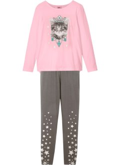 Mädchen Langarmshirt + Leggings (2-tlg.Set) Bio-Baumwolle, bpc bonprix collection
