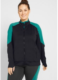 Funktions-Sweatjacke mit recyceltem Polyester, langarm, bpc bonprix collection