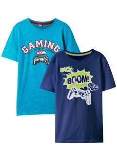 Jungen T-Shirt (2er-Pack) Bio-Baumwolle, bpc bonprix collection