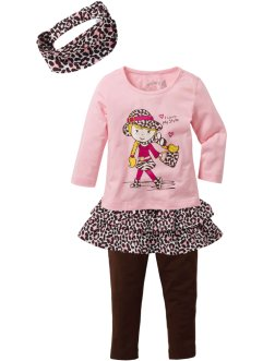 Mädchen Shirt + Rock + Leggings + Haarband (4-tlg.Set), bpc bonprix collection