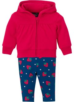 Baby Sweatshirtjacke und Leggings (2-tlg.Set) Bio-Baumwolle, bpc bonprix collection