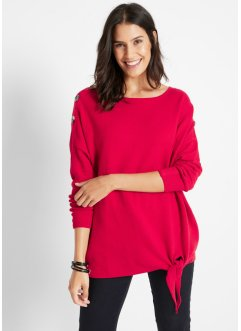 Strickpullover mit Knotendetail, Oversize Fit, bpc bonprix collection