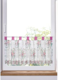 Scheibengardine mit Rosen Druck, bpc living bonprix collection