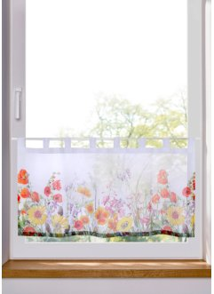 Scheibengardine mit Digitaldruck Blumen, bpc living bonprix collection