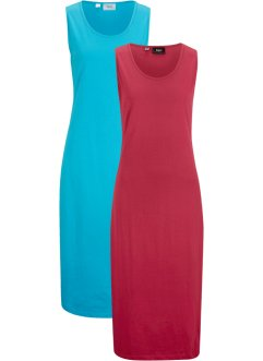 Jerseykleid (2er-Pack), Midi-Länge, bpc bonprix collection