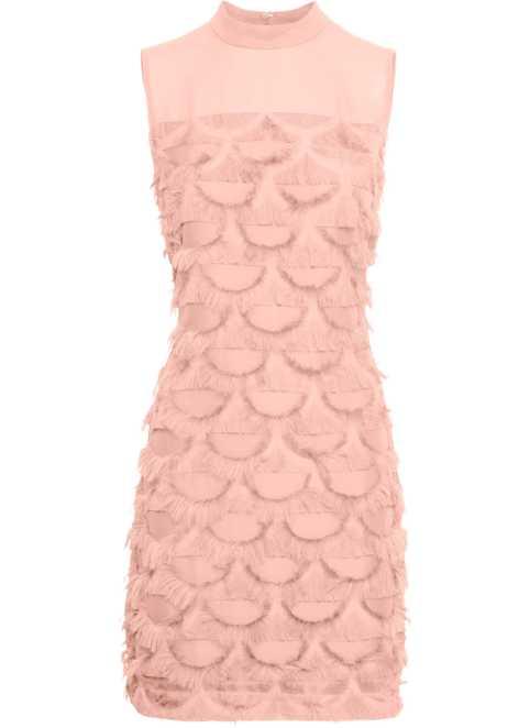 Abendkleid lang puder rosa