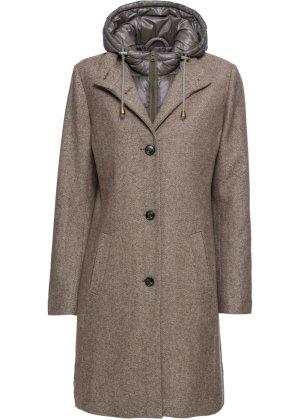 Damen bonprix Wintermantel in 2-in-1-Optik mit Wolle | 08718309769871