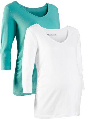 Bonprix Damen Umstandsshirts in Bio-Baumwolle ¾-Arm (Doppelpack) | 08941101452386