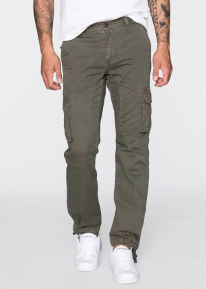 Cargo-Hose Loose Fit Tapered, RAINBOW, dunkeloliv