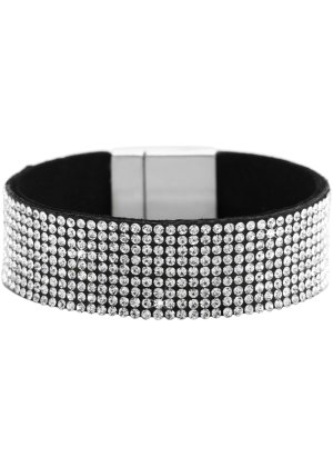 Bonprix Damen breites Armband mit Strasssteinen   04260436100439