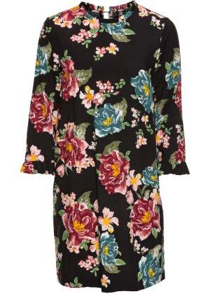 Bonprix Damen Ungefüttertes Kleid mit Rüschen aus Viskose   06927976617701