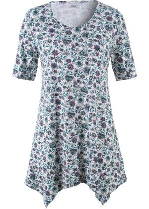Bonprix Damen Zipfel-Shirt mit halblangen Ärmeln   08941101643821