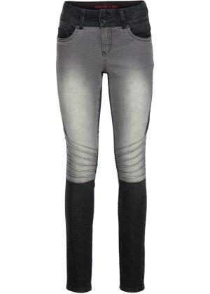 Bonprix Damen Zweifarbige Skinny Jeans mit Teilungsnähten | 06928893721069