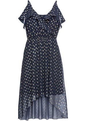 Bonprix Damen Vokuhila-Kleid mit Metallic-Print   08901381208301