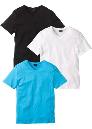 Bonprix Herren V-T-Shirt (3er-Pack) Regular Fit | 08941100886823