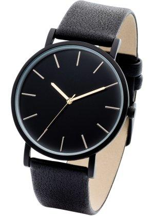 Bonprix Damen Uhr mit schwarzem Ziffernblatt | 04897000549587