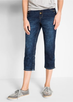 3 4-Boyfriend-Stretch-Jeans mit Rundumrippbund, bpc bonprix collection f9406cc6fa