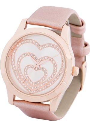Bonprix Damen Uhr mit Strassherzen | 04897000550309