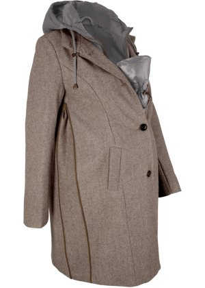 Damen bonprix Tragejacke Umstands-Wintermantel mit Wolle 2in1 Optik | 06932967620783