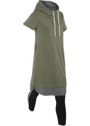 Bonprix Damen Wellness-Longsweatshirt mit Leggings (2-tlg.) | 08941101308720