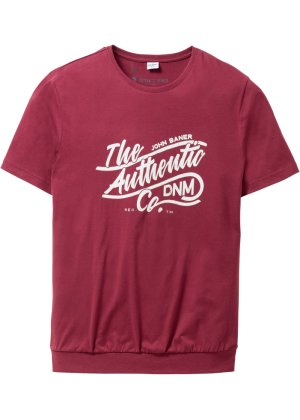 Bonprix Herren T-Shirt mit Spezial-Bauchschnitt Regular Fit | 06161112618331
