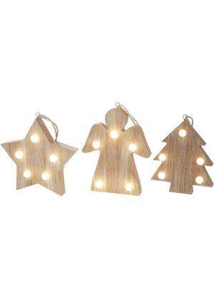 LED Weihnachtsanhu0026auml;nger, 3er Set, Bpc Living