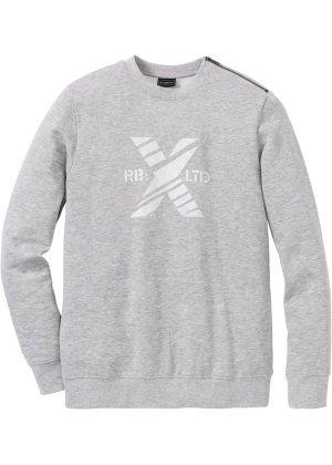 Bonprix Herren Sweatshirt mit Reißverschluss-Detail Slim Fit | 08806154701907