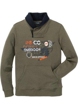 Bonprix Herren Sweatshirt mit Schalkragen Slim Fit | 05712963724613