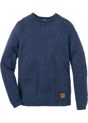 Herren bonprix Rundhals-Pullover mit Zopfmuster Regular Fit | 08941102048953