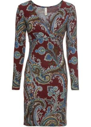 Bonprix Damen Wickelkleid mit Paisley Muster   06290532304781