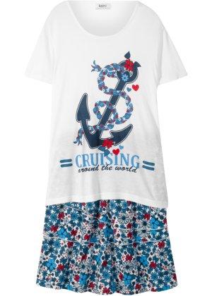 Mädchen,  Kinder bonprix T-Shirt + Volantrock (2-tlg. Set) | 08901594394723