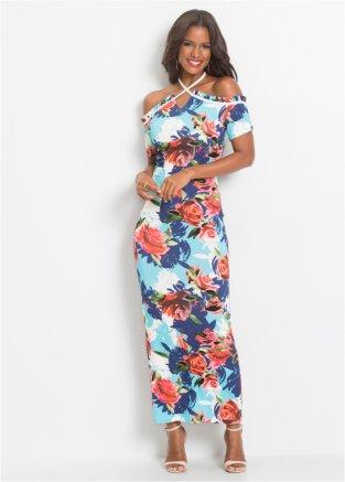 dfac758f4e6061 Sommerkleid mit floralem Print blau/rot geblümt - Damen - bonprix.de