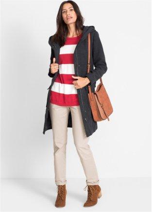 san francisco f080d e84e3 Modern gestreifter Pullover in lässiger Passform mit leicht überschnittenen  Schultern