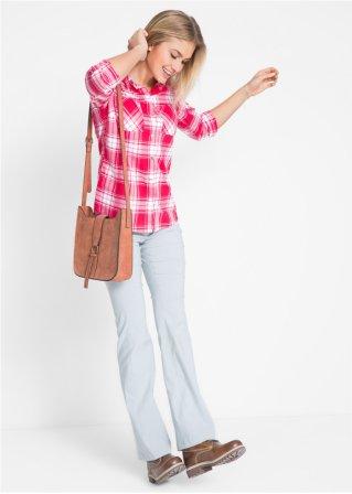 e0a17c4abf07 Locker sitzende Bluse mit Druckknöpfen und krempelbaren Ärmeln ...