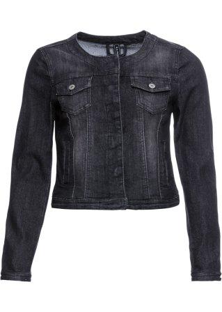 Stylishe Jeansjacke mit Rundhalsausschnitt - black washed 8f5e4c53e0