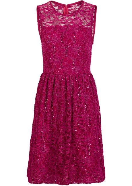 new style 3efb7 10d22 Spitzen-Kleid mit Tellerrock