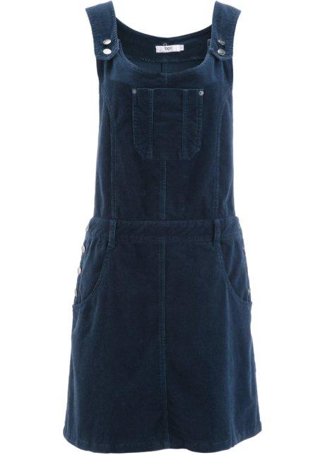27758f33fae01f Hübsches Latz-Kleid mit regulierbaren Trägern - dunkelblau