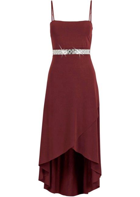 2f3ae3a27b280 Elegantes Kleid mit Schmucksteinen - bordeaux