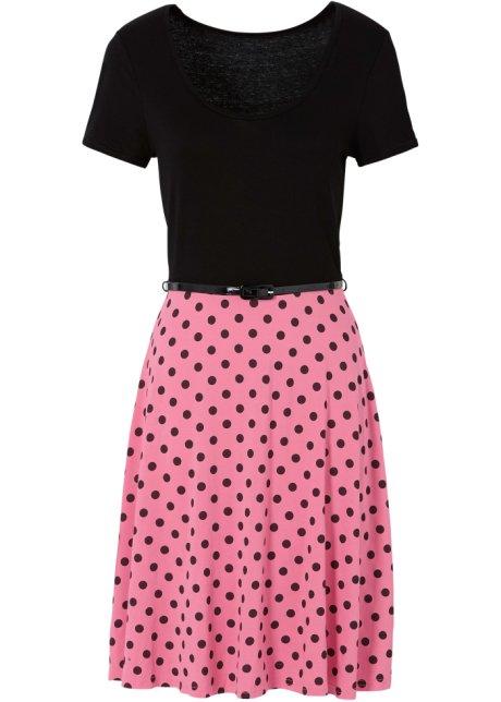 Shirtkleid kurzer Arm in schwarz (Rundhals) von bonprix Bodyflirt Vt7HA